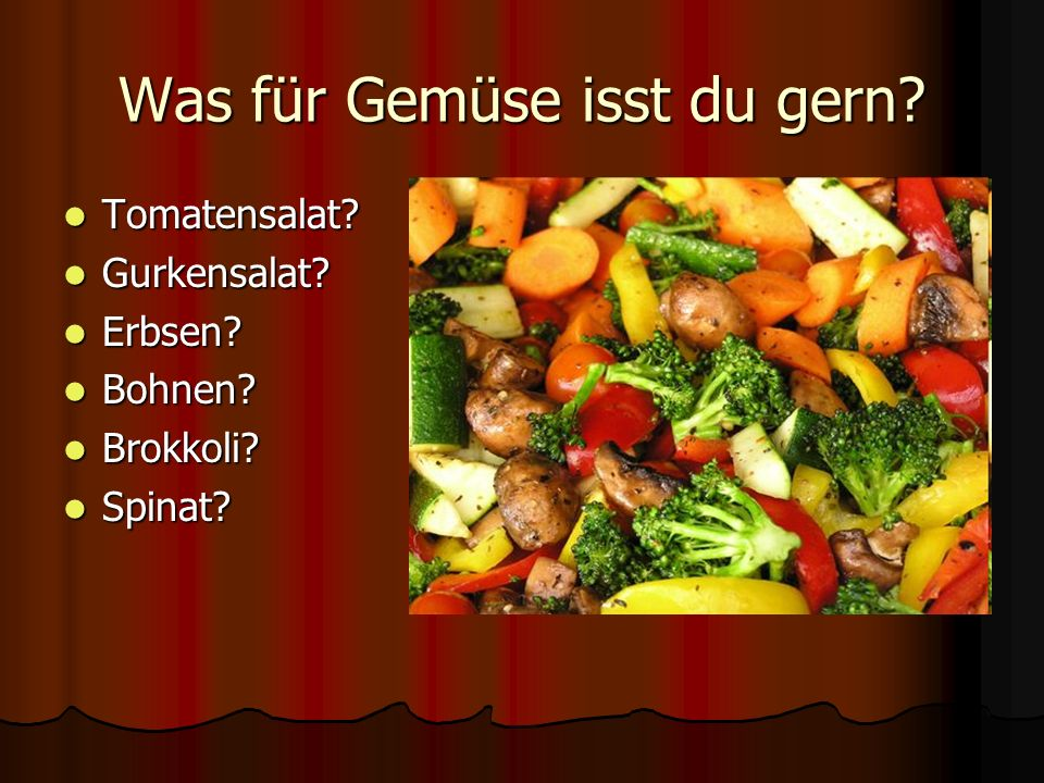 Was für Gemüse isst du gern