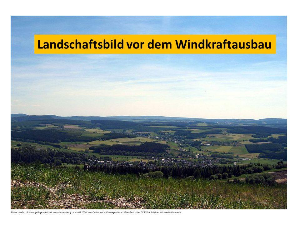 Landschaftsbild vor dem Windkraftausbau