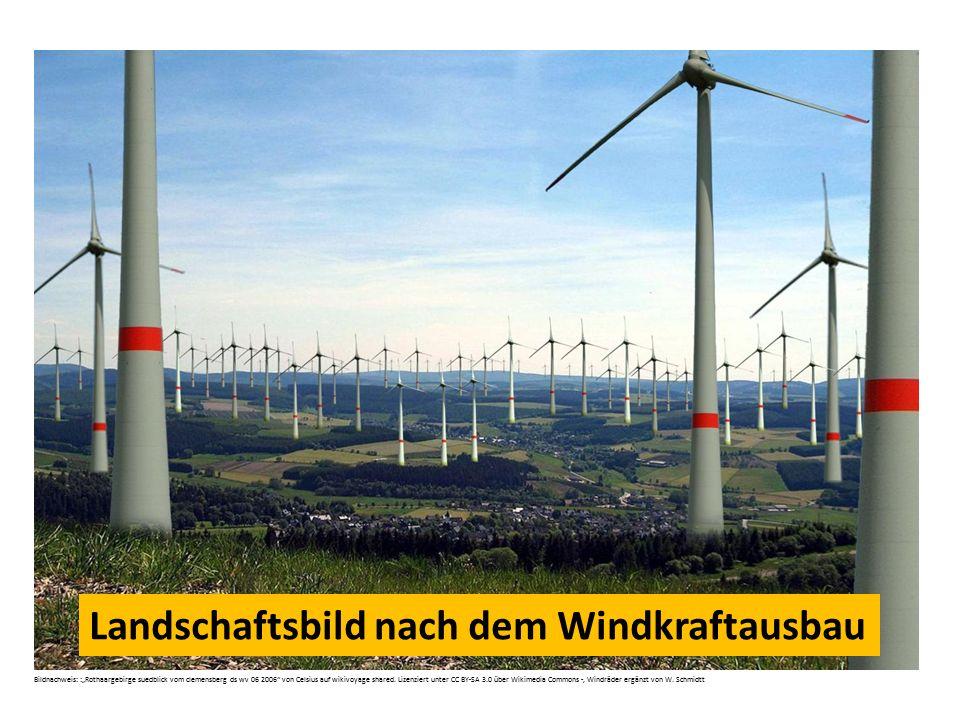 Landschaftsbild nach dem Windkraftausbau