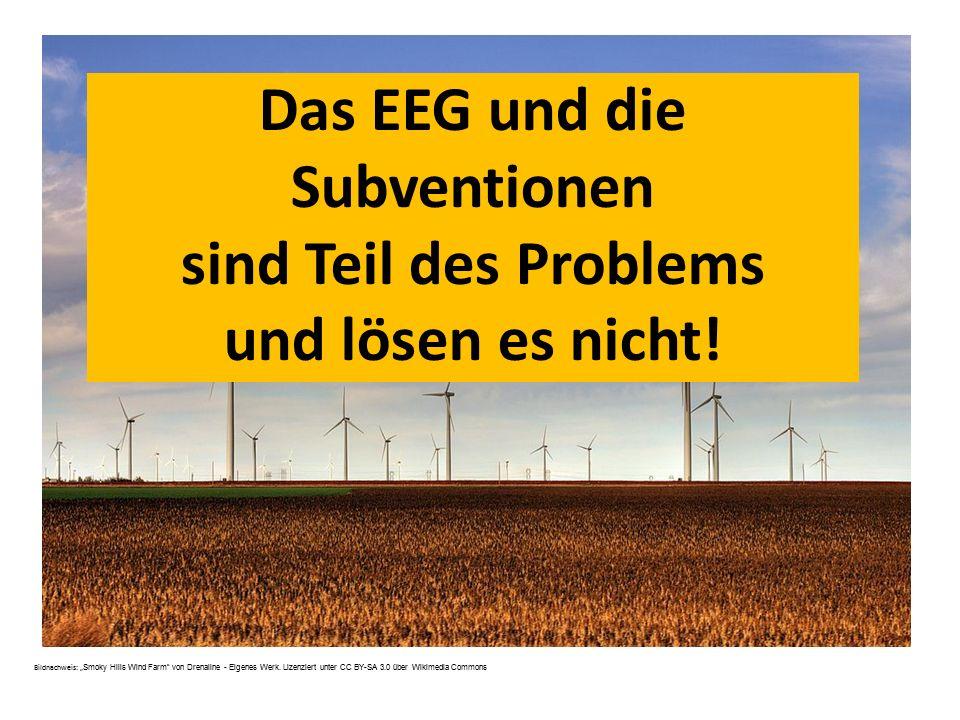 Das EEG und die Subventionen sind Teil des Problems und lösen es nicht!