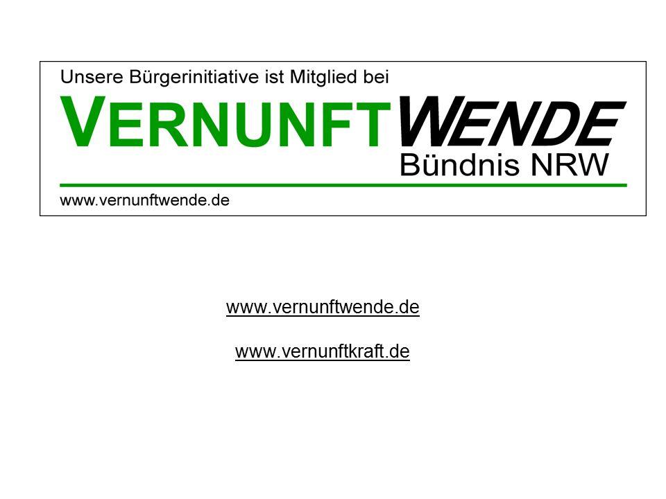 www.vernunftwende.de www.vernunftkraft.de