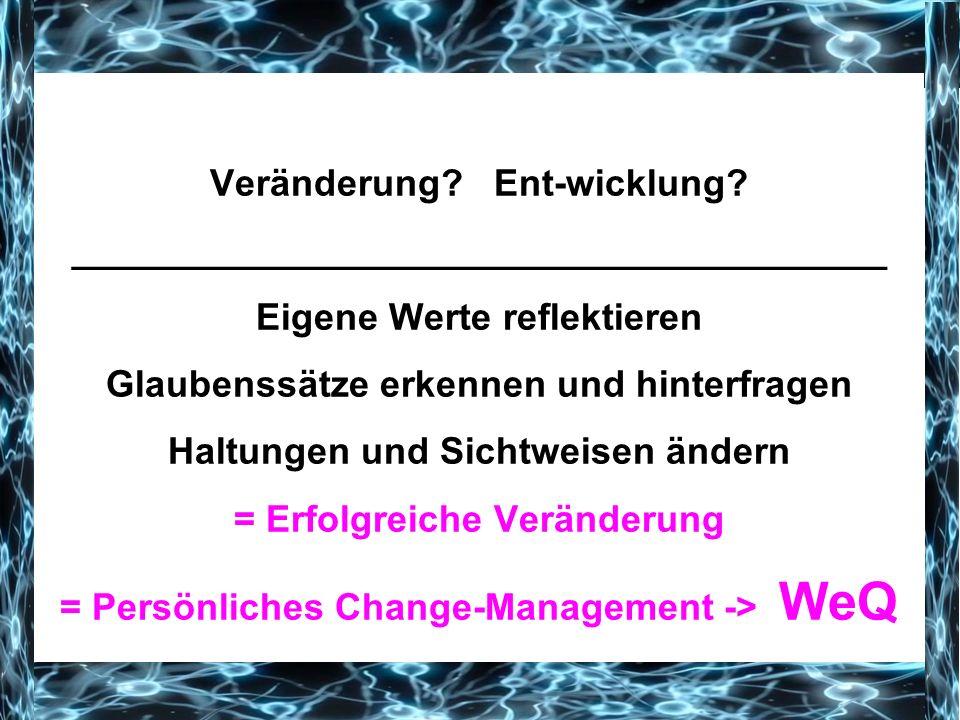 Veränderung. Ent-wicklung