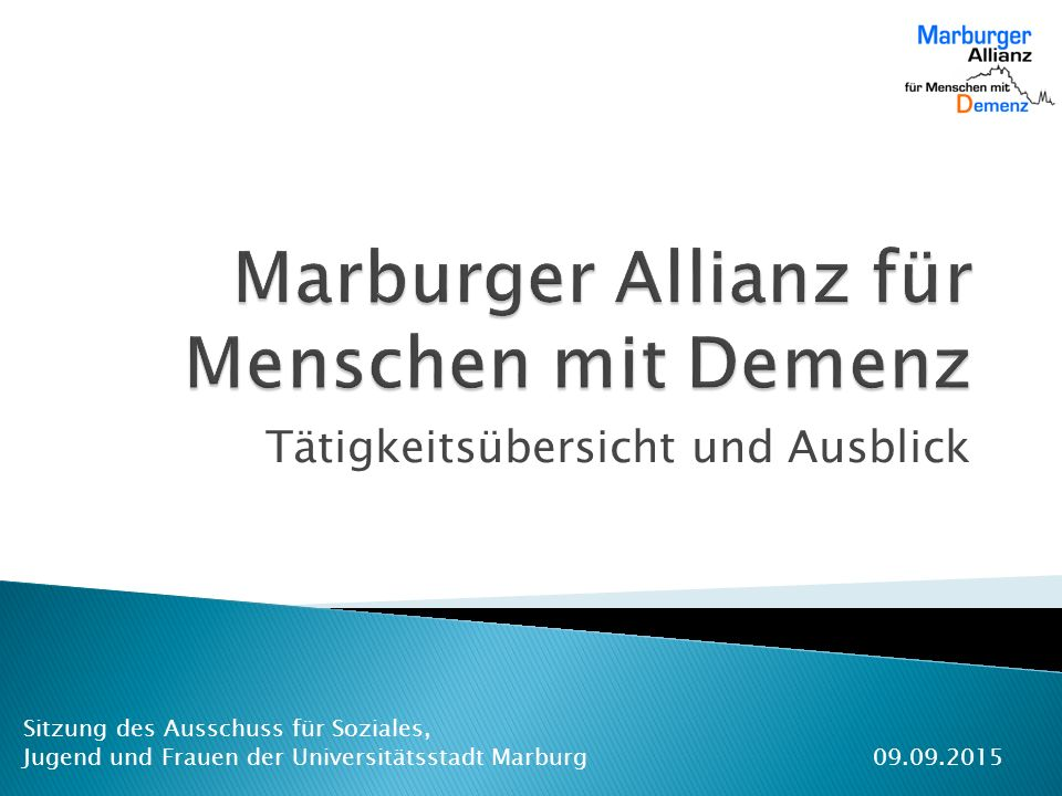 Marburger Allianz für Menschen mit Demenz