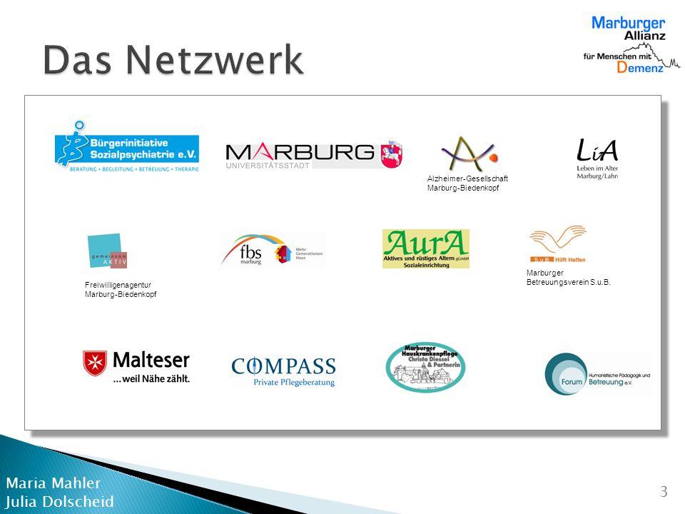 Das Netzwerk Alzheimer-Gesellschaft Marburg-Biedenkopf Marburger