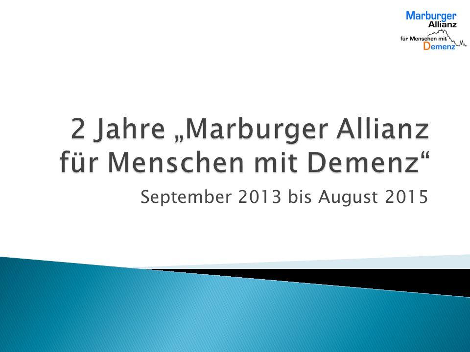 """2 Jahre """"Marburger Allianz für Menschen mit Demenz"""