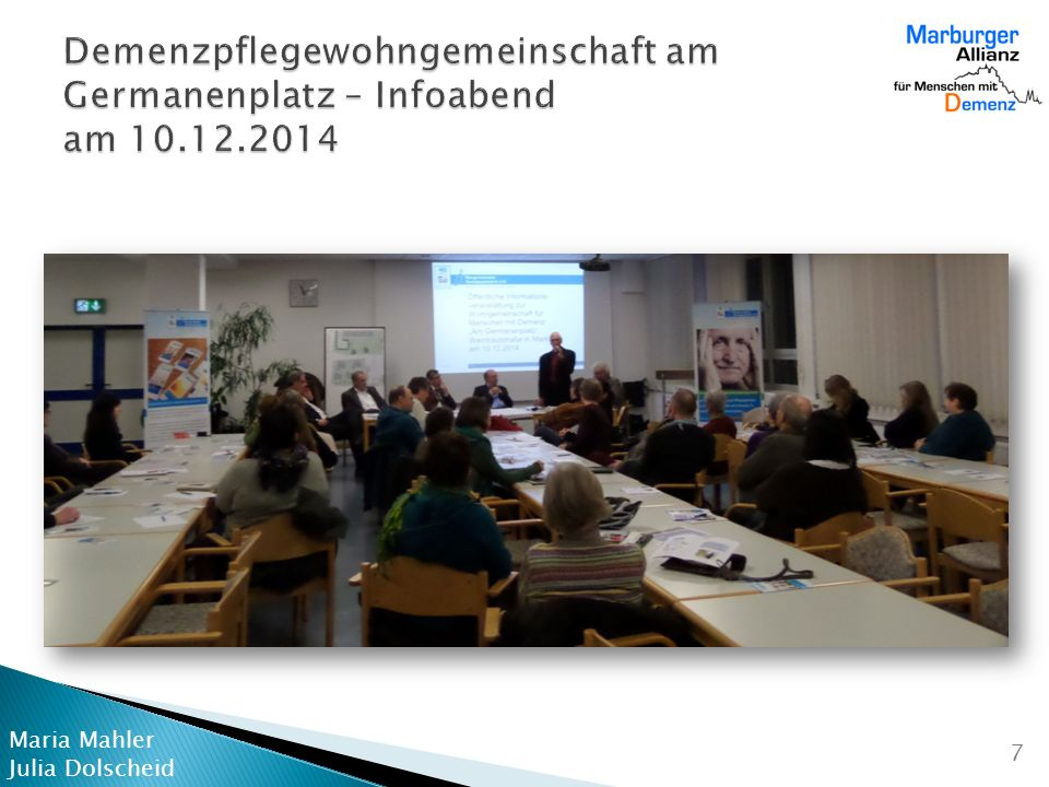 Demenzpflegewohngemeinschaft am Germanenplatz – Infoabend am 10. 12