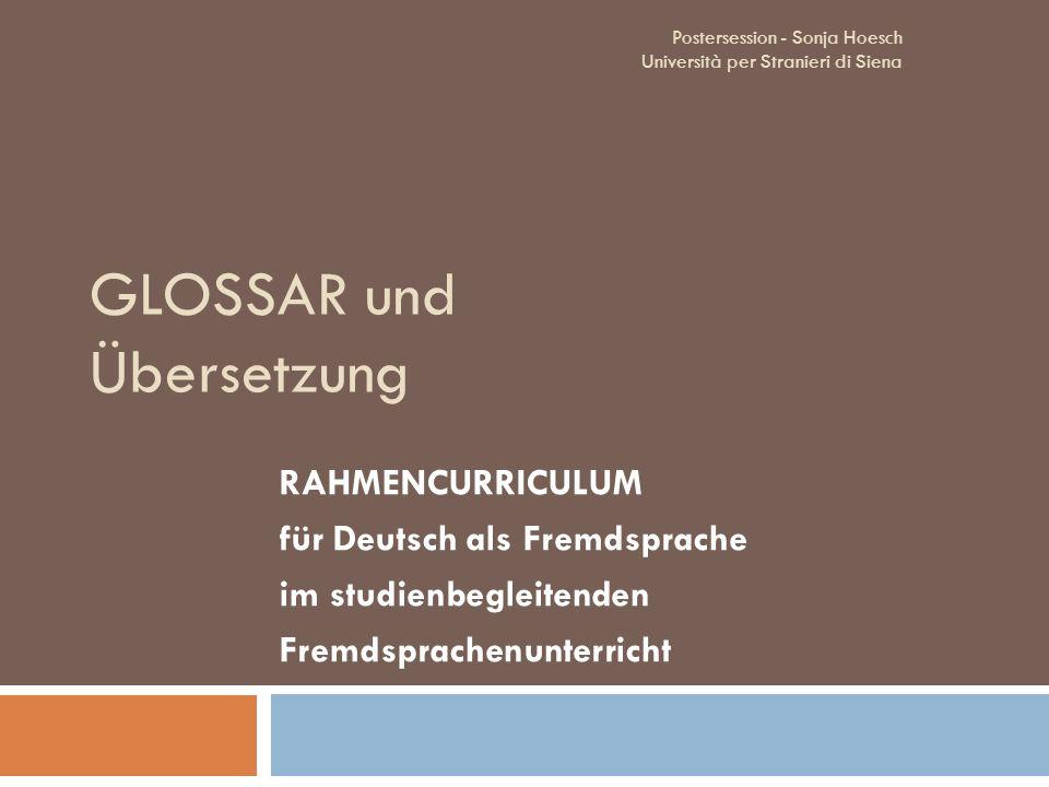 GLOSSAR und Übersetzung