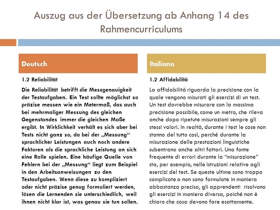 Auszug aus der Übersetzung ab Anhang 14 des Rahmencurriculums
