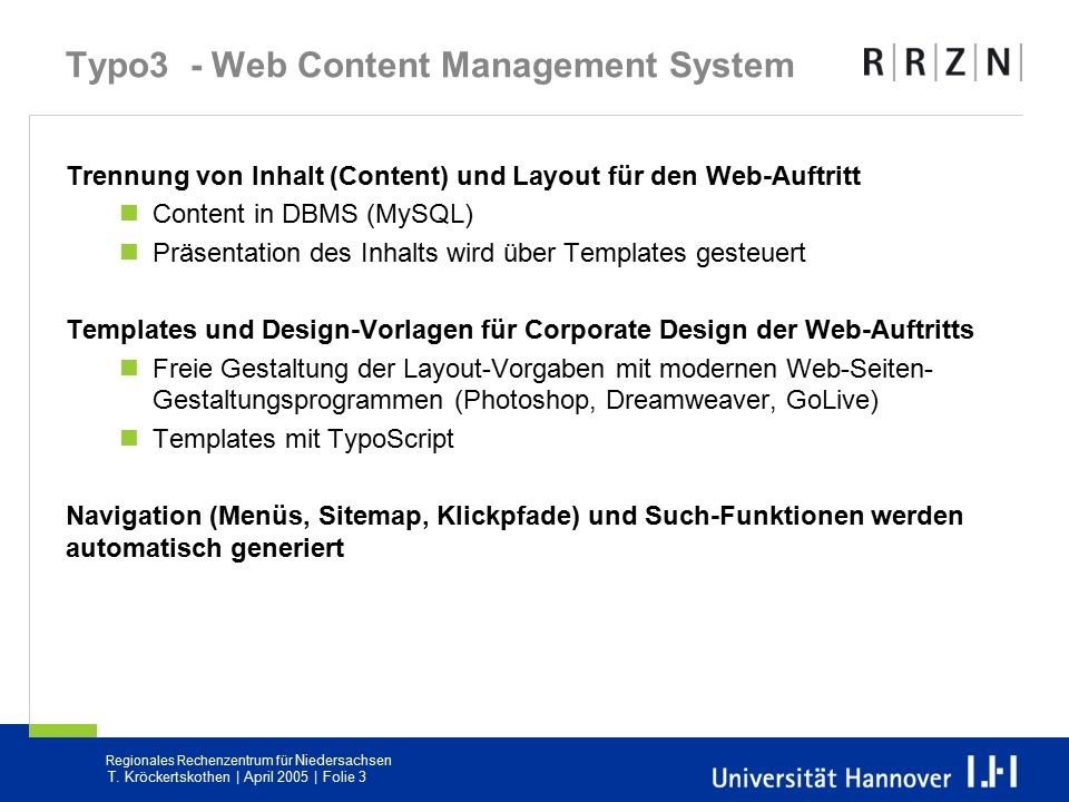 Typo3 - Web Content Management System