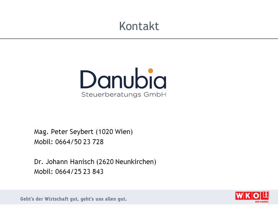 Kontakt Mag. Peter Seybert (1020 Wien) Mobil: 0664/50 23 728