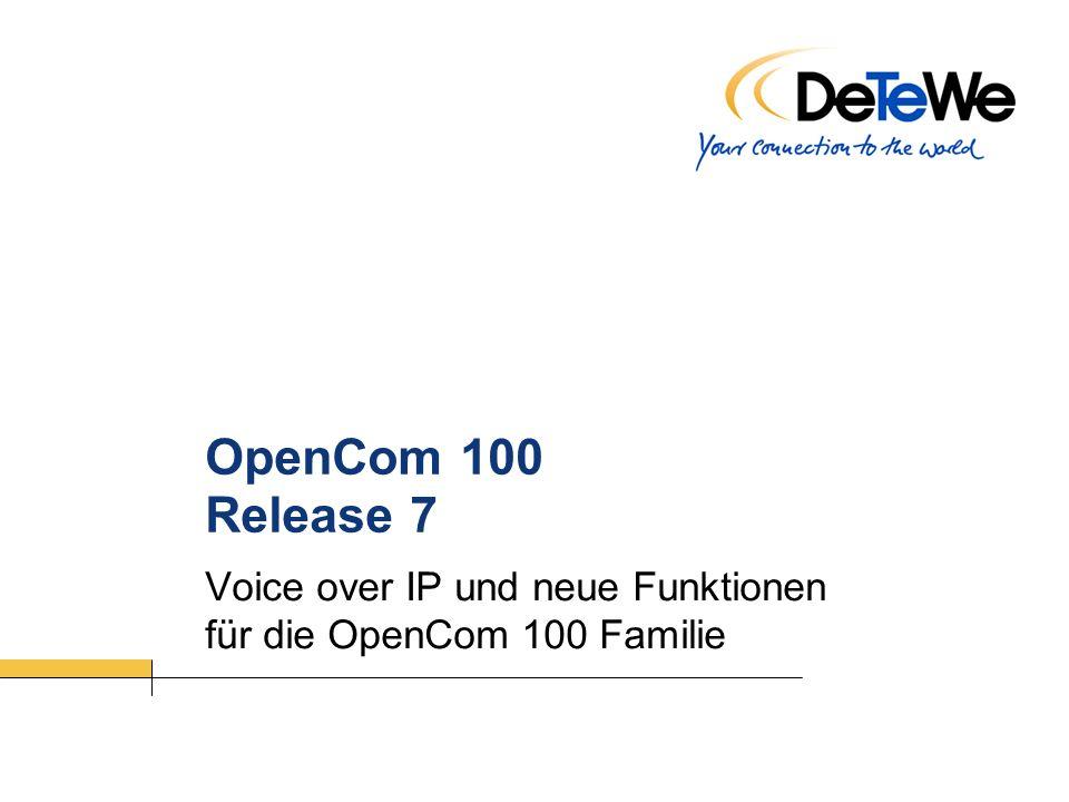Voice over IP und neue Funktionen für die OpenCom 100 Familie