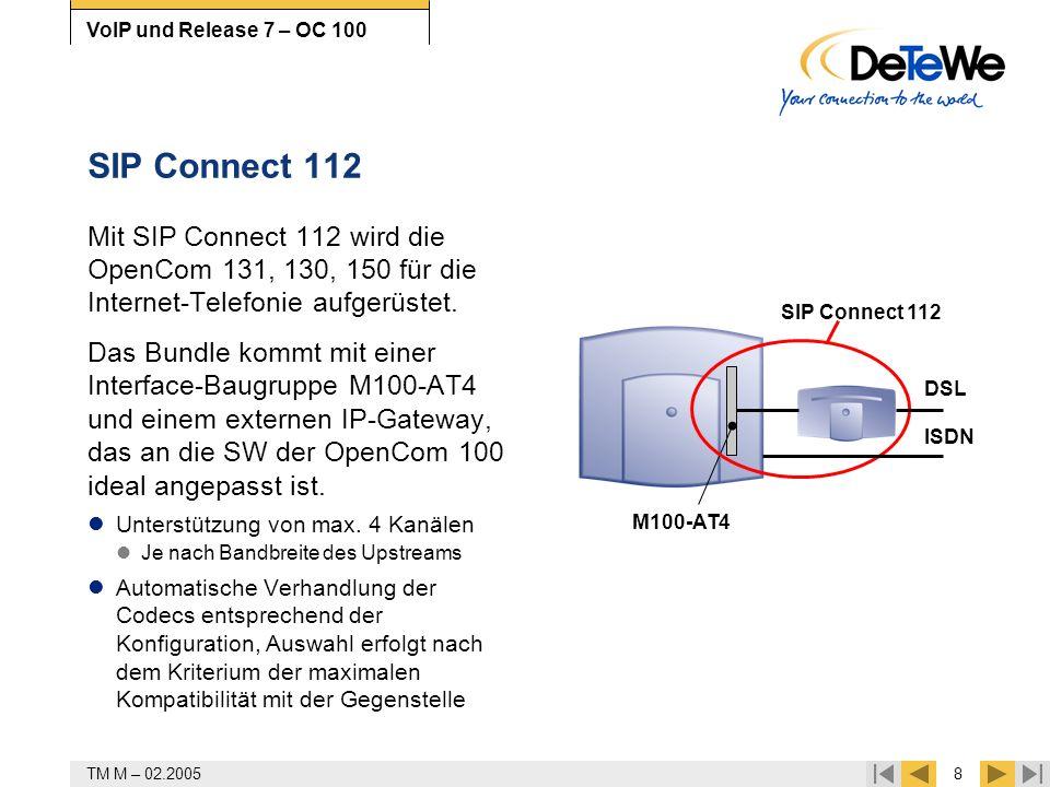 SIP Connect 112 Mit SIP Connect 112 wird die OpenCom 131, 130, 150 für die Internet-Telefonie aufgerüstet.