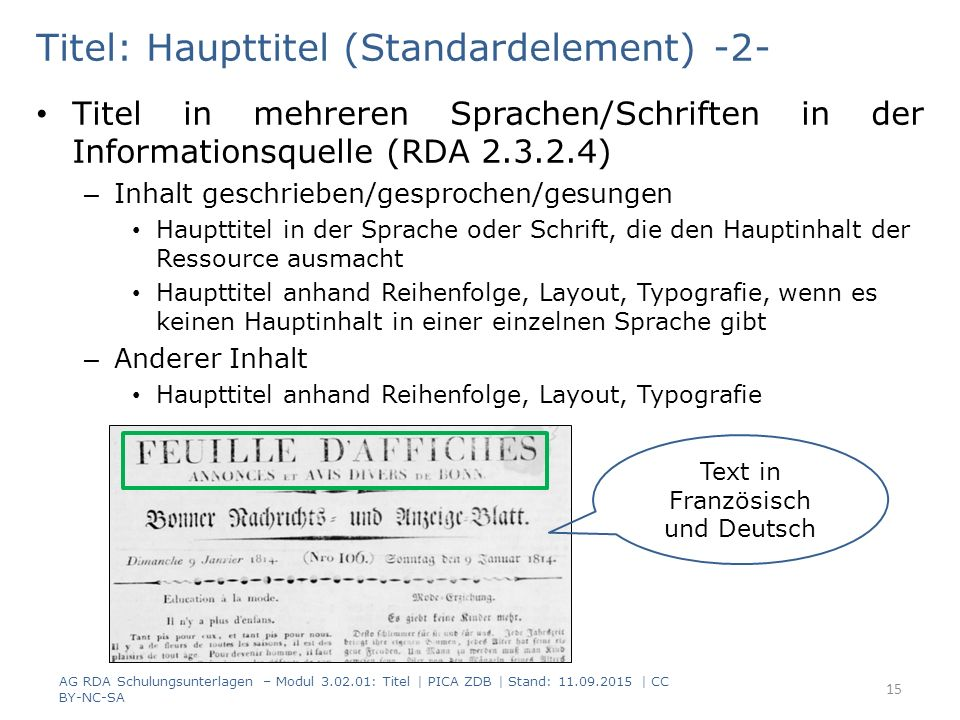 Titel: Haupttitel (Standardelement) -2-