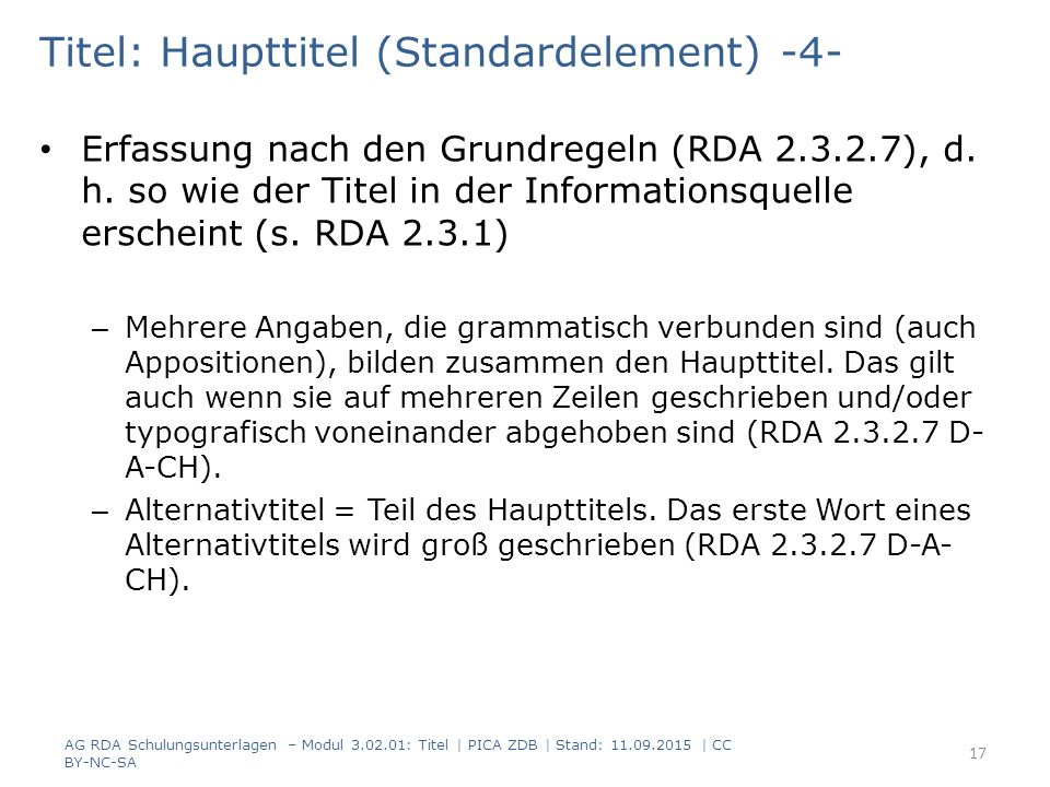 Titel: Haupttitel (Standardelement) -4-