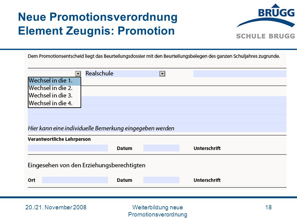 Neue Promotionsverordnung Element Zeugnis: Promotion
