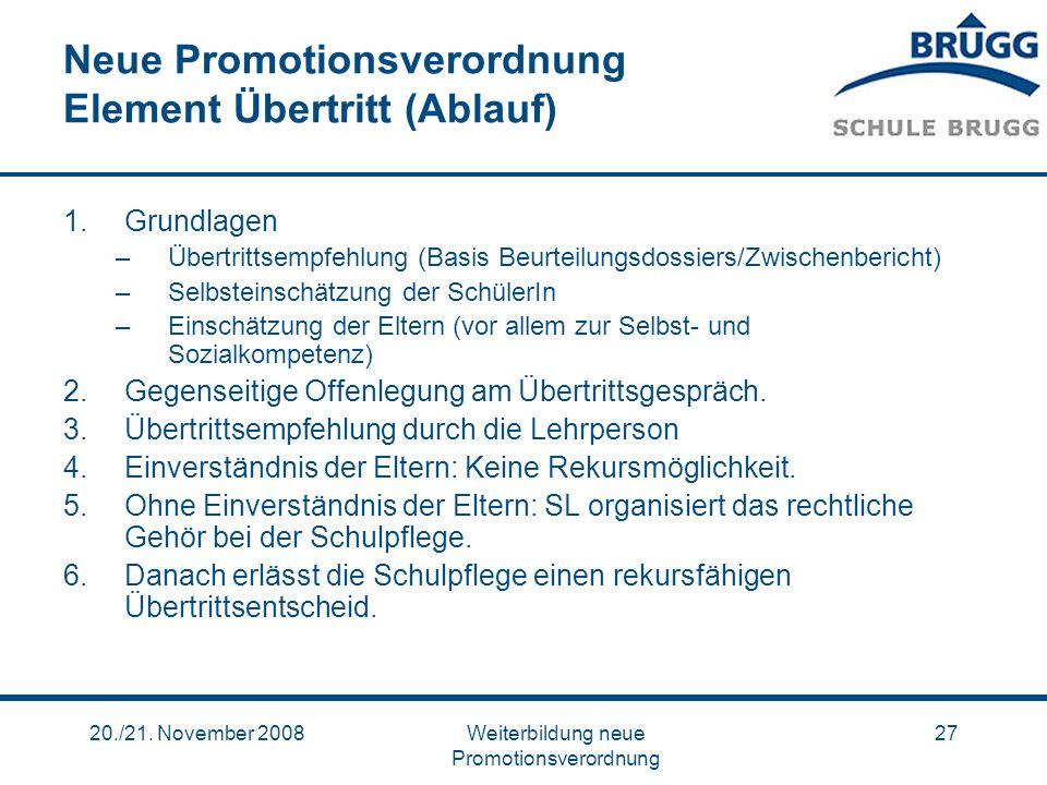 Neue Promotionsverordnung Element Übertritt (Ablauf)