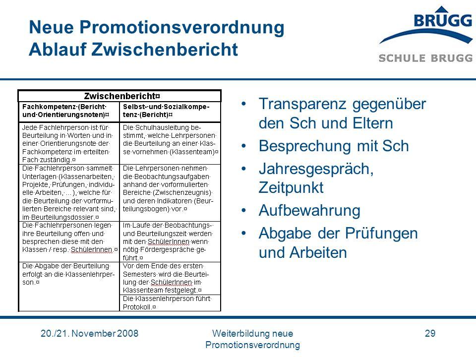 Neue Promotionsverordnung Ablauf Zwischenbericht