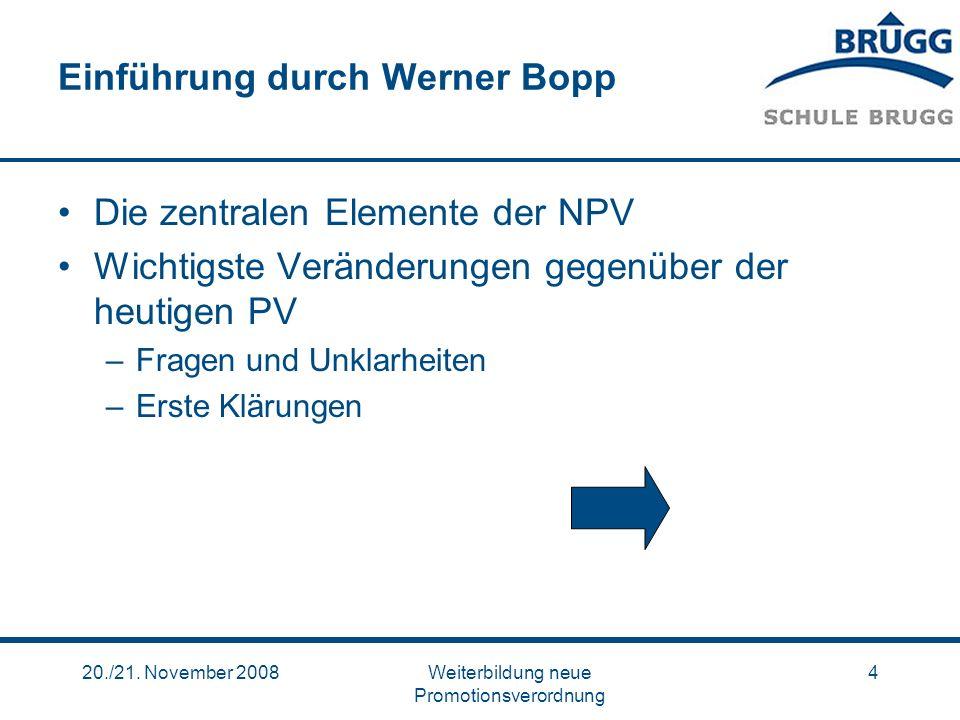 Einführung durch Werner Bopp