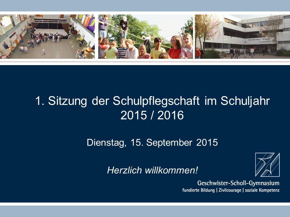 1. Sitzung der Schulpflegschaft im Schuljahr 2015 / 2016