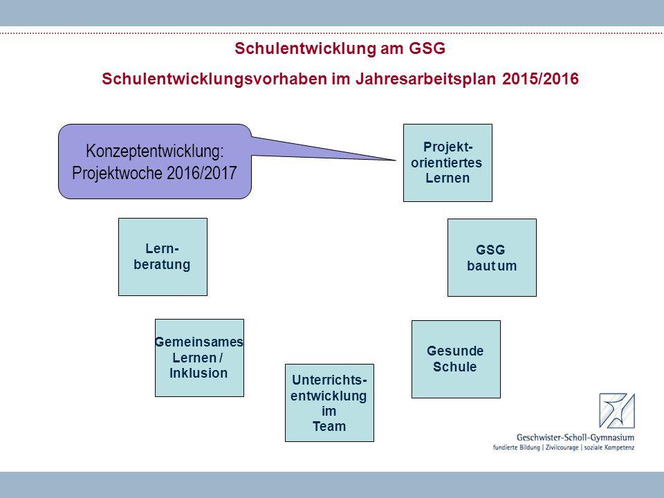Konzeptentwicklung: Projektwoche 2016/2017
