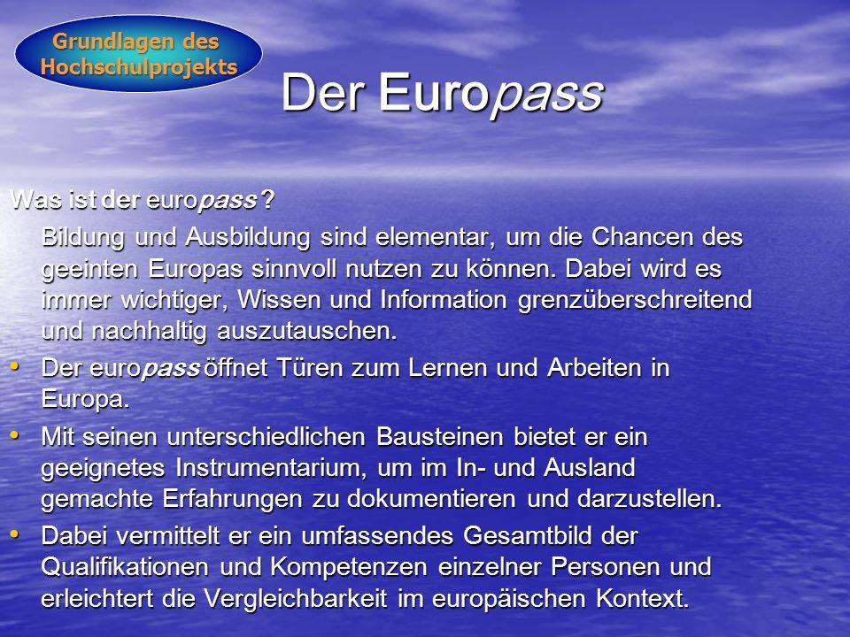 Der Europass Was ist der europass