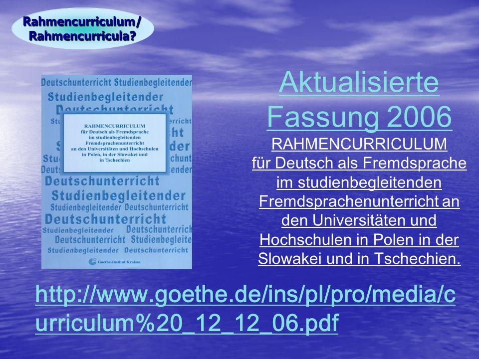 Rahmencurriculum/ Rahmencurricula
