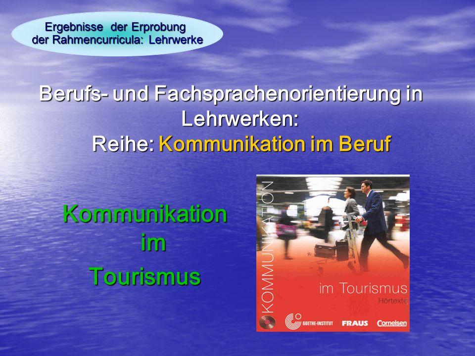 Ergebnisse der Erprobung der Rahmencurricula: Lehrwerke