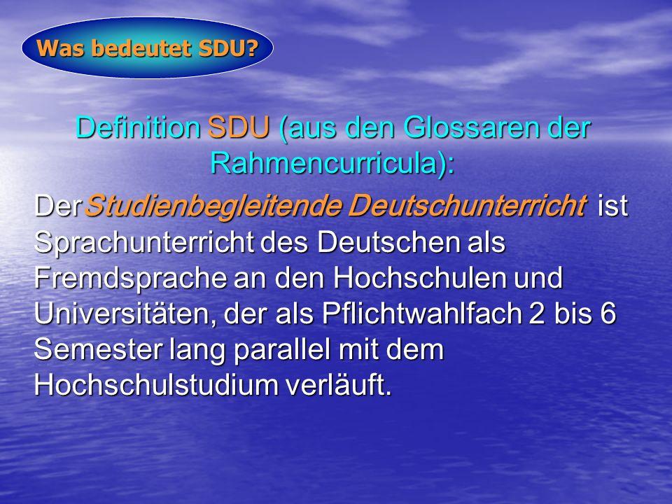 Definition SDU (aus den Glossaren der Rahmencurricula):