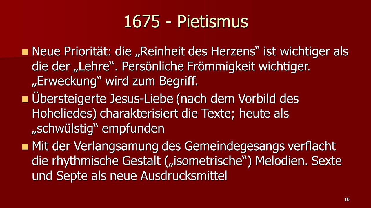 1675 - Pietismus