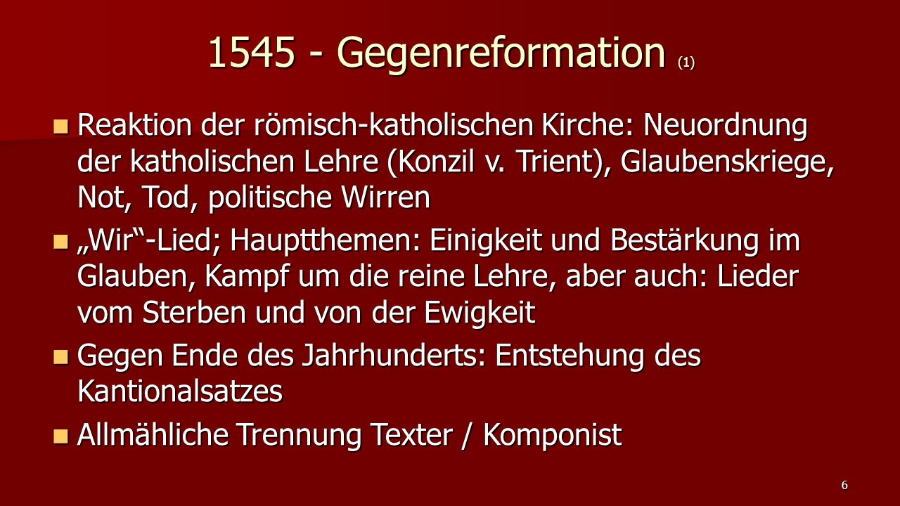 1545 - Gegenreformation (1)