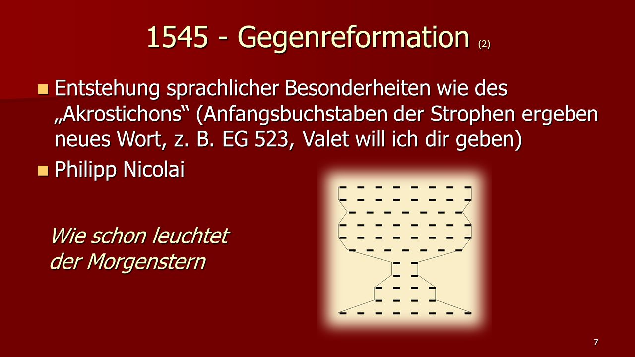 1545 - Gegenreformation (2)
