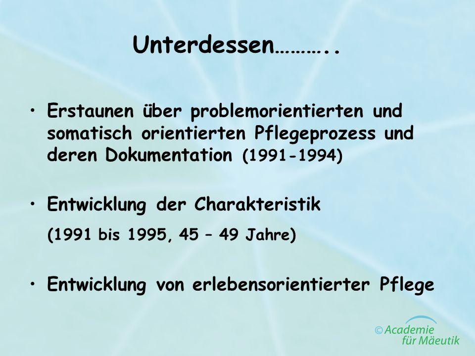Unterdessen……….. (1991 bis 1995, 45 – 49 Jahre)
