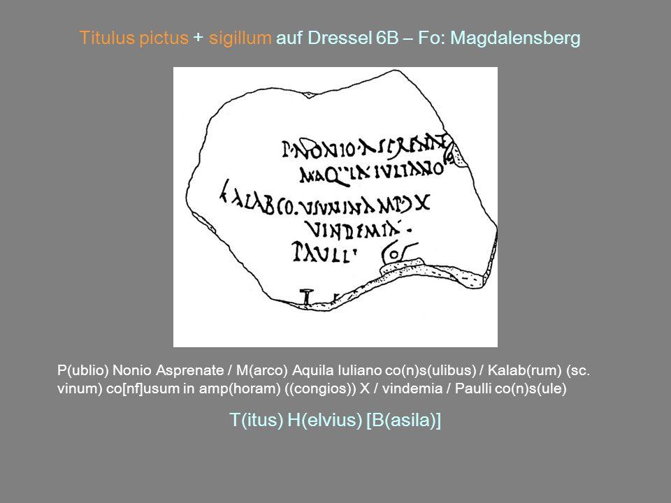 Titulus pictus + sigillum auf Dressel 6B – Fo: Magdalensberg