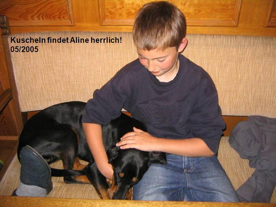 Kuscheln findet Aline herrlich!