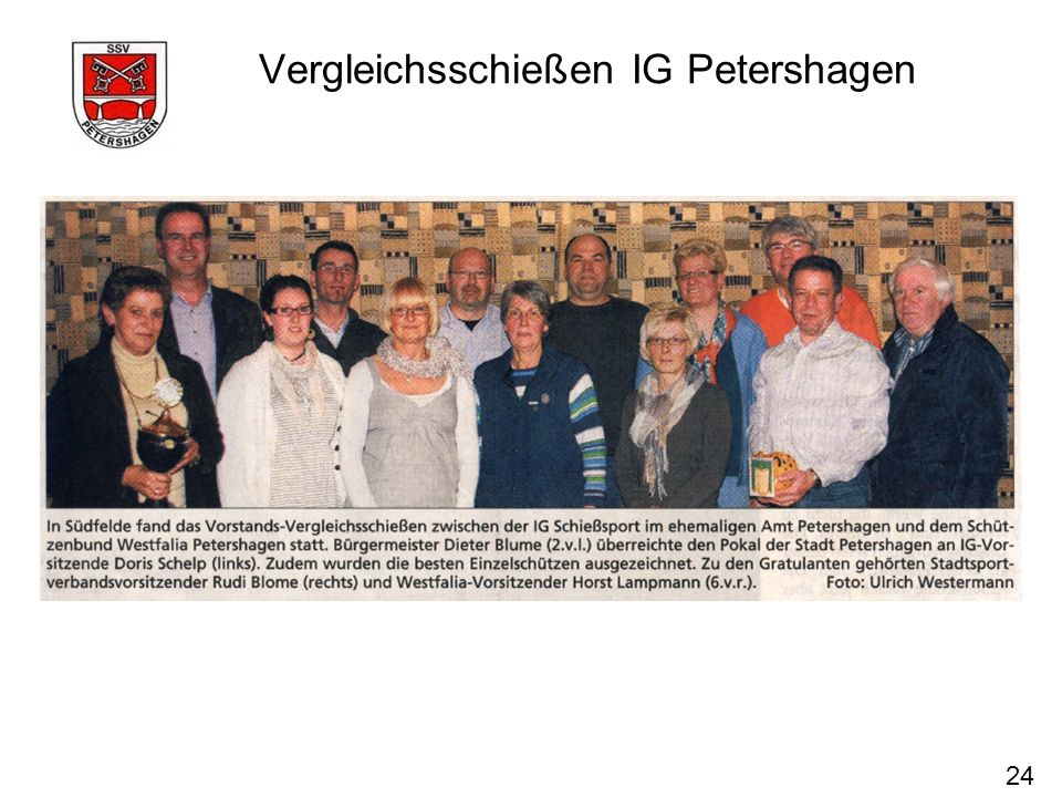 Vergleichsschießen IG Petershagen