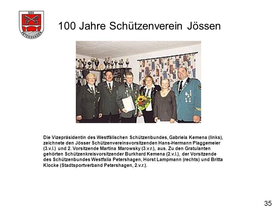 100 Jahre Schützenverein Jössen