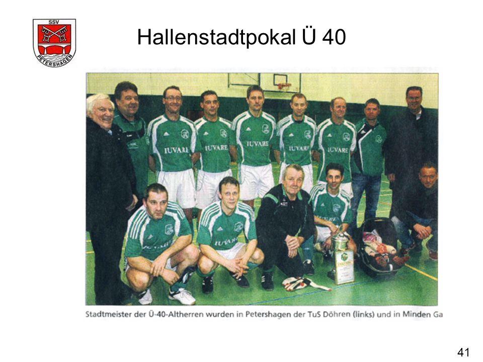 Hallenstadtpokal Ü 40 41