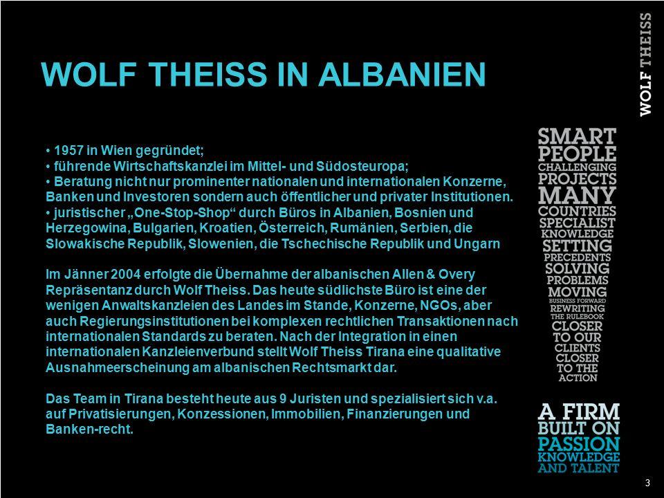 WOLF THEISS IN ALBANIEN