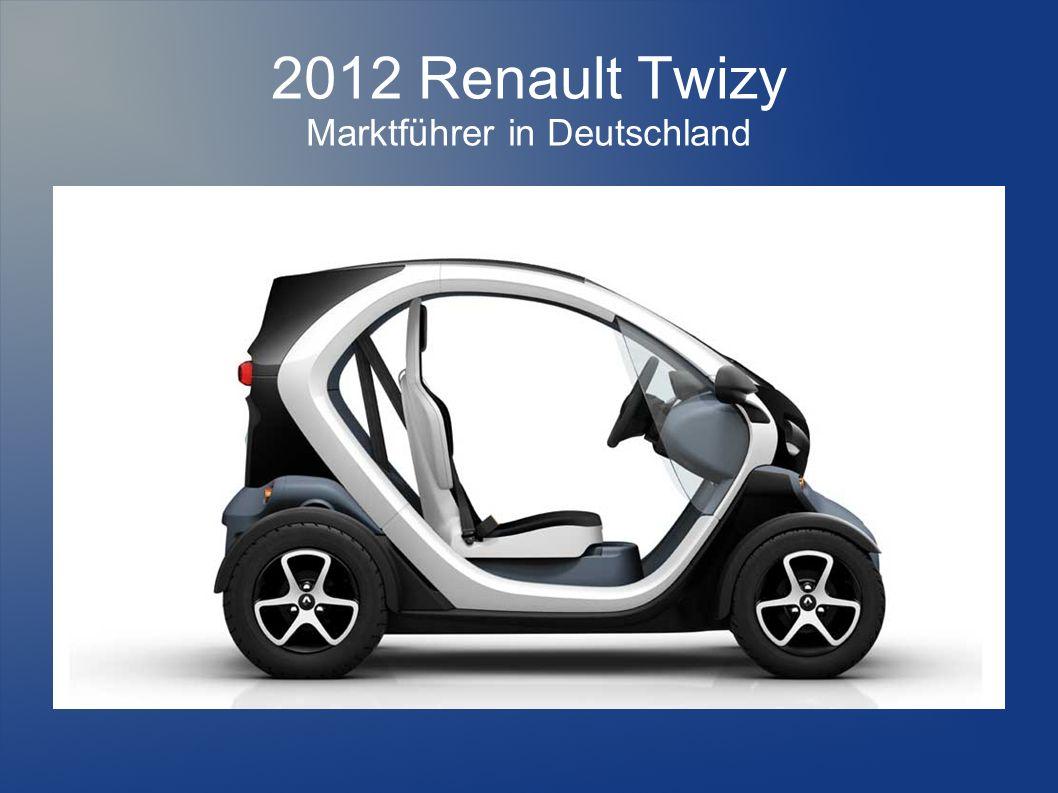2012 Renault Twizy Marktführer in Deutschland