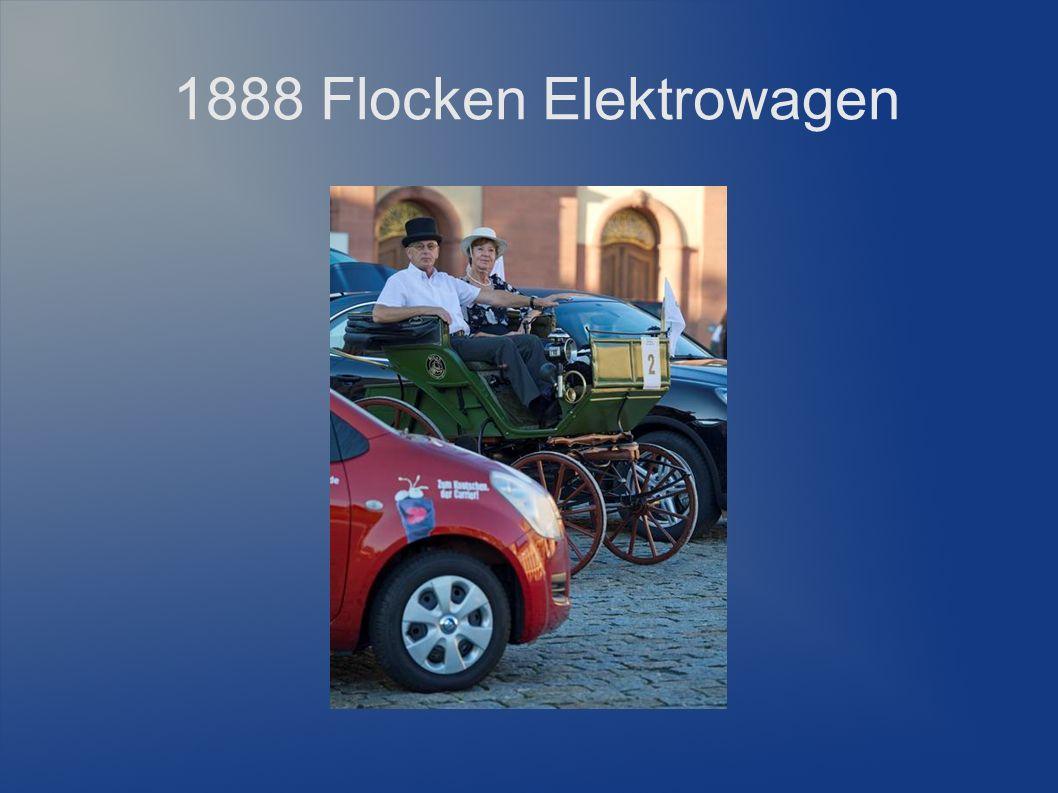 1888 Flocken Elektrowagen Erster Versuch eines Leichtelektromobils