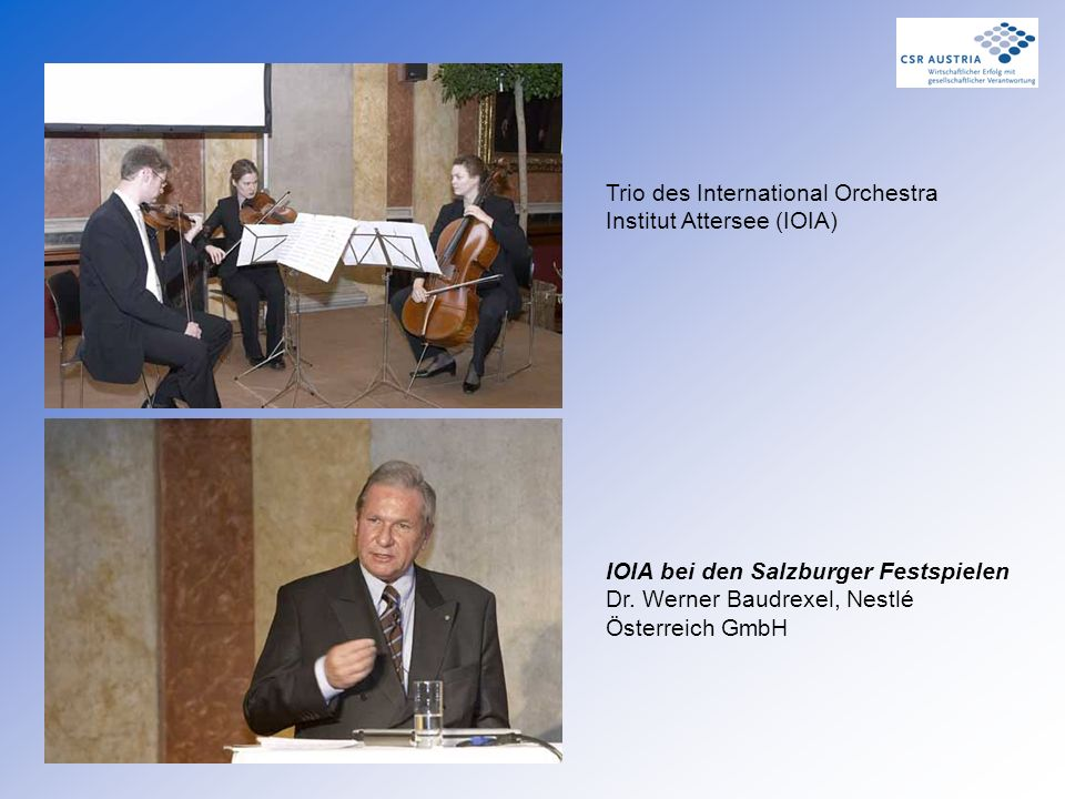 Trio des International Orchestra Institut Attersee (IOIA)