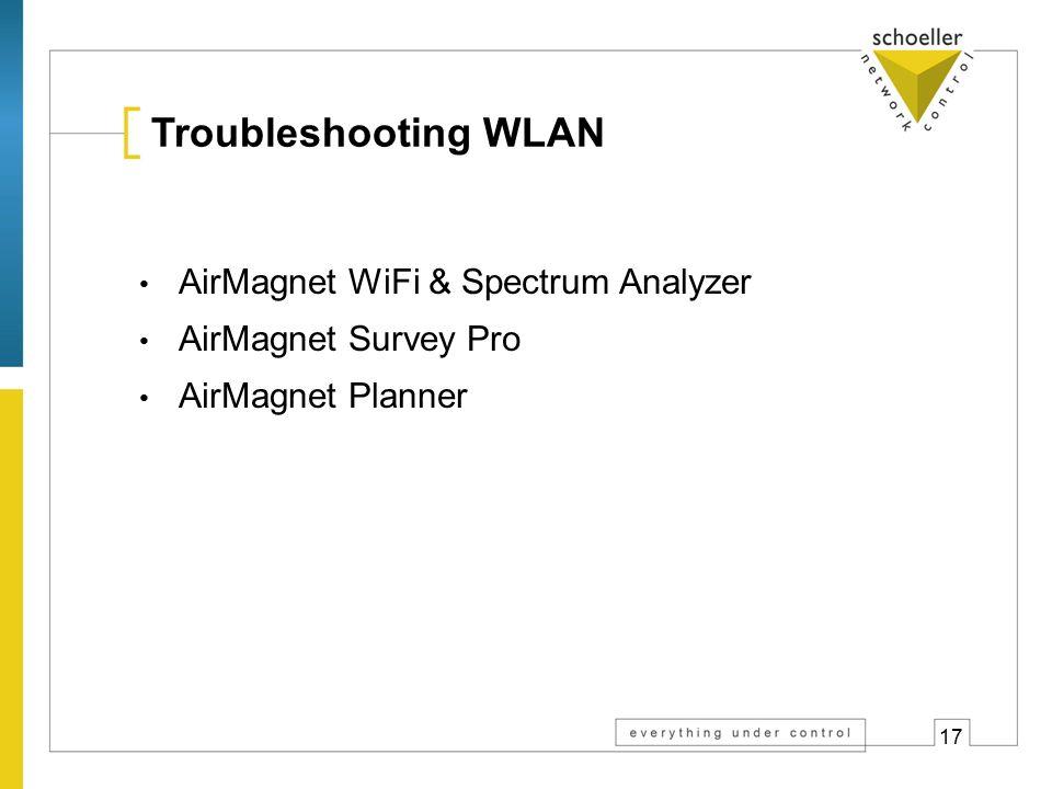 Troubleshooting WLAN 802.11a,b,g,n Netzwerke und Access Points