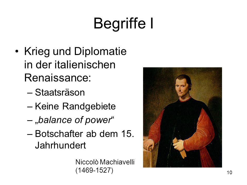 Begriffe I Krieg und Diplomatie in der italienischen Renaissance: