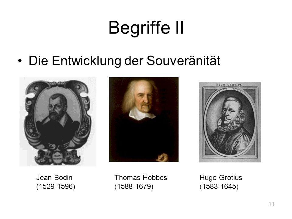 Begriffe II Die Entwicklung der Souveränität Jean Bodin (1529-1596)