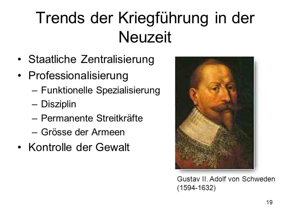 Trends der Kriegführung in der Neuzeit