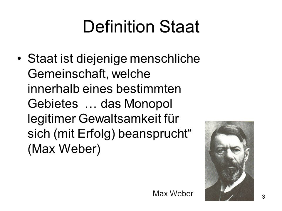 Definition Staat