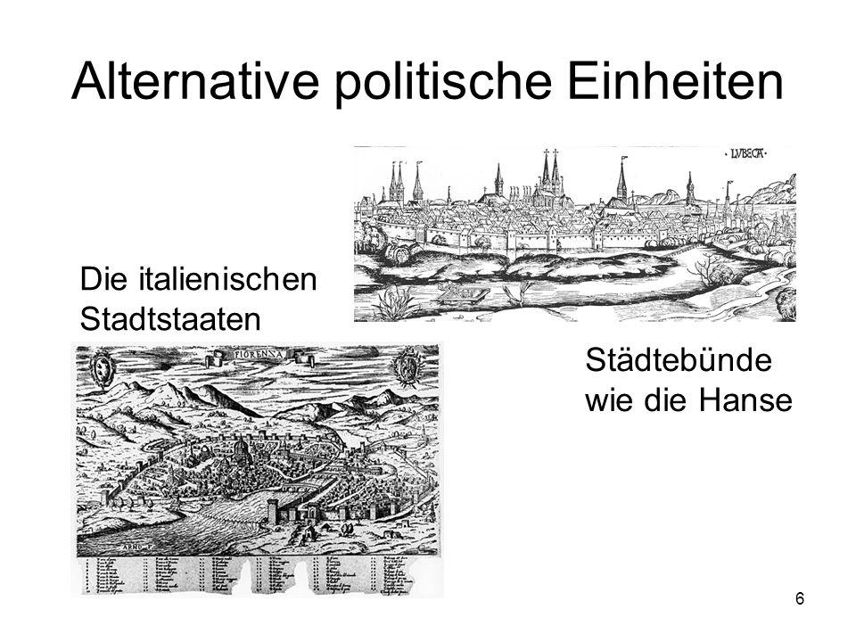 Alternative politische Einheiten
