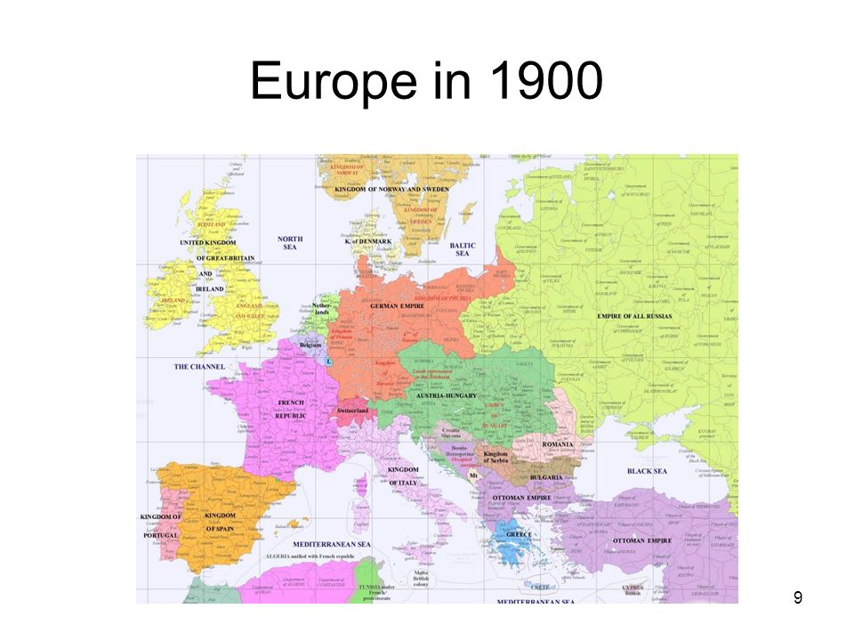 Europe in 1900