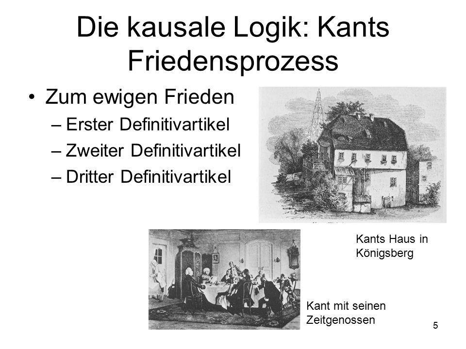 Die kausale Logik: Kants Friedensprozess