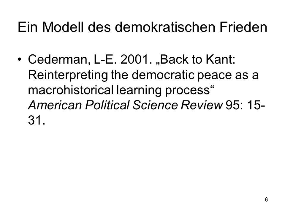 Ein Modell des demokratischen Frieden